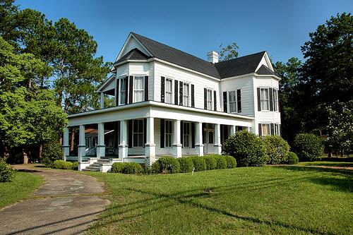 sylvester ga pinson gammage house photograph copyright brian brown vanishing south georgia usa 2009