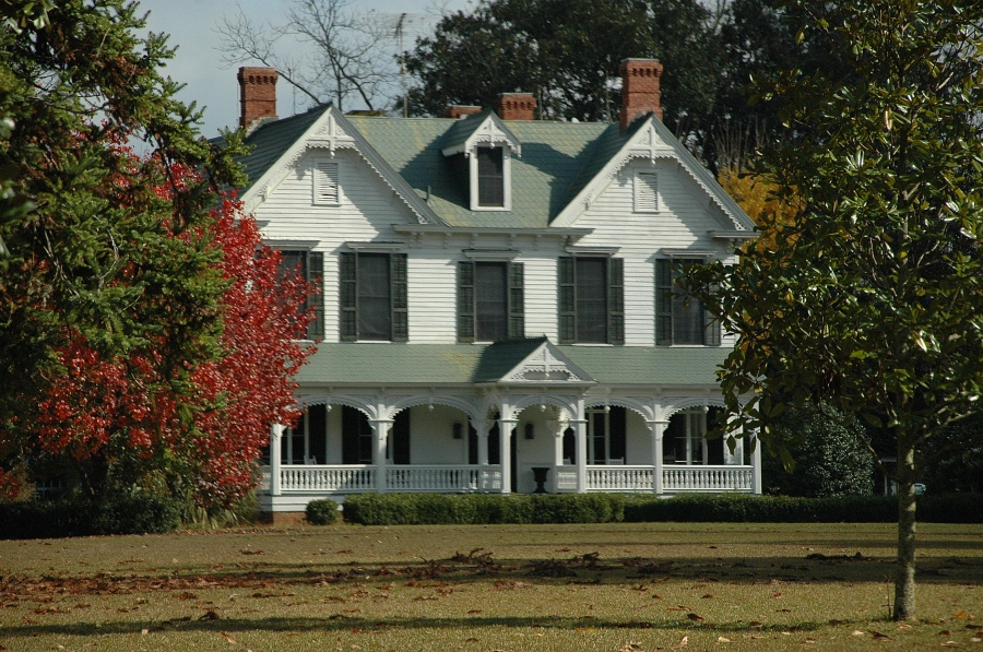 Wheeler County GA Woodland Plantation House Victorian Architecture 1870 National Register Of Historic Places Rural Southern Country Photo Copyright Brian