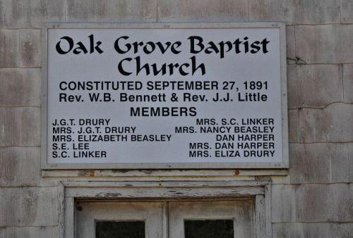 historic-oak-grove-baptist-church-sign-photograph-copyright-brian-brown-vanishing-south-georgia-usa-2010