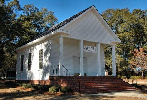 historic scarboro baptist church jenkins county ga photograph copyright brian brown vanishing south georgia usa 2010