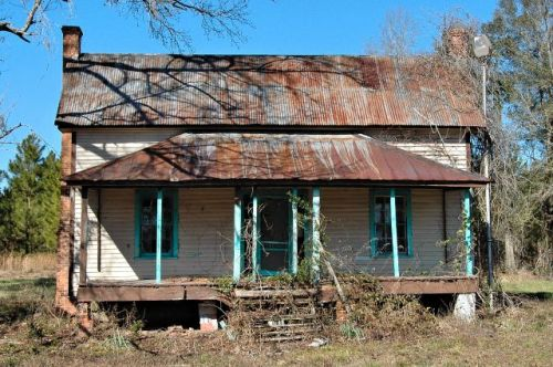 ogeechee ga abandoned double pen house photograph copyright brian brown vanishing south georgia usa 2010