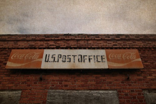 alston ga us post office coca cola sign photograph copyright brian brown vanishing south georgia usa 2010