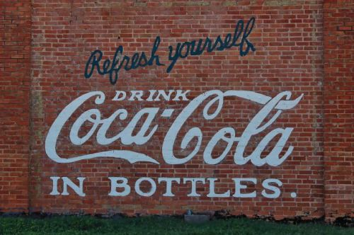 attapulgus ga hatcher building coca cola mural photograph copyright brian brown vanishing south georgia usa 2010