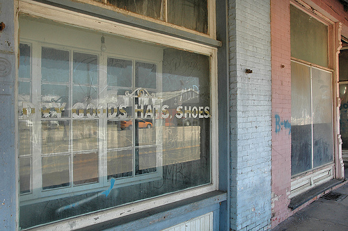 bronwood ga historic storefront window sign photograph copyright brian brown vanishing south georgia usa 2010