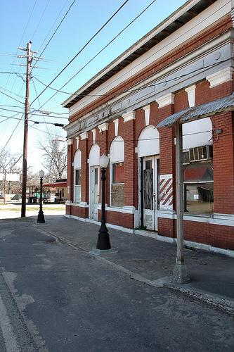 bronwood ga historic storefronts photograph copyright brian brown vanishing south georgia usa 2010