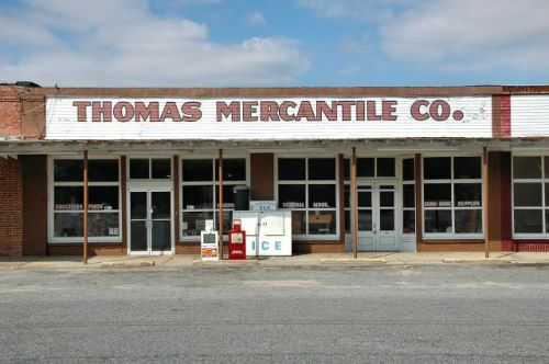 calvary ga thomas mercantile company photograph copyright brian brown vanishing south georgia usa 2010