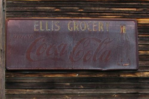 grovania ga ellis grocery coca cola sign photograph copyright brian brown vanishing south georgia usa 2010