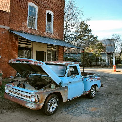 herodd ga historic storefront vintage chevrolet truck photograph copyright brian brown vanishing south georgia usa 2010