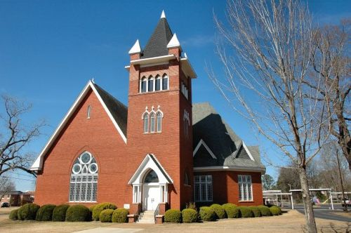 historic first baptist church cuthbert ga photograph copyright brian brown vanishing south georgia usa 2010