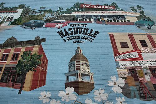 nashville ga mural photograph copyright brian brown vanishing south georgia usa 2010