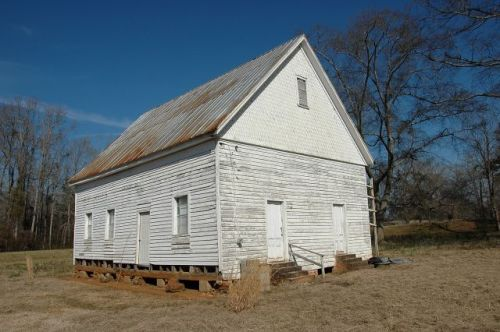 randolph county ga fountain bridge community abandoned primitive baptist church photograph copyright brian brown vanishing south georgia usa 2010