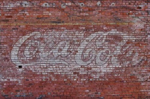 shellman ga coca cola ghost mural photograph copyright brian brown vanishing south georgia usa 2010