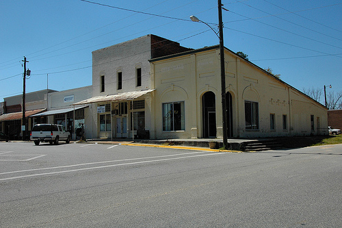 Uvalda GA Montgomery County Storefronts Downtown City Hall Picture Image Photograph © Brian Brown Vanishing South Georgia USA 2013