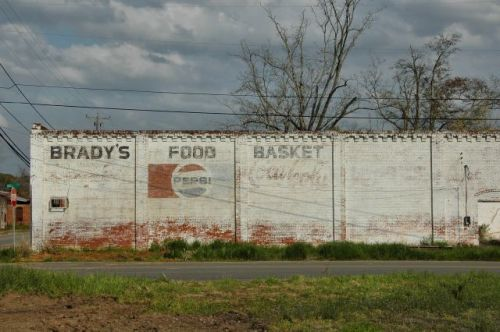 damascus ga bradys food basket pepsi mural photograph copyright brian brown vanishing south georgia usa 2010