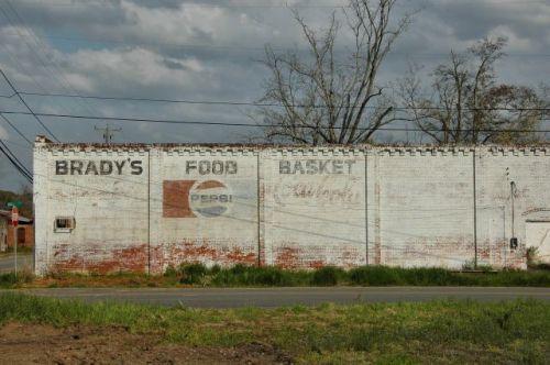 damascus ga bradys food basket pepsi mural photograph copyright brian brown vanishing south georgia usa 2010