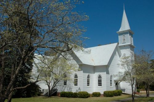 historic ailey baptist church photograph copyright brian brown vanishing south georgia usa 2010