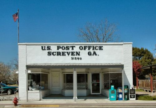 screven ga us post office photograph copyright brian brown vanishing south georgia usa 2010
