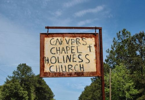 coffee county ga carvers chapel holiness church sign photograph copyright brian brown vanishing south georgia usa 2010