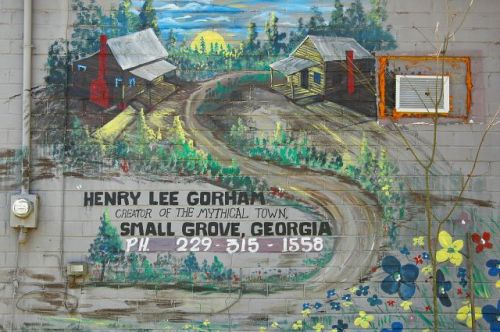 mcrae ga henry llee gorham small grove folk art photograph copyright brian brown vanishing south georgia usa 2010