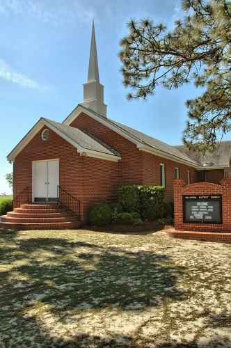 double run ga historic oklahoma baptist church photogrpah copyright brian brown vanishing south georgia usa 2010