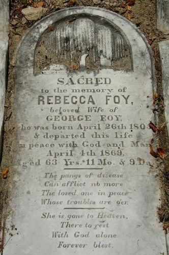 egypt ga rebecca foy headstone photograph copyright brian brown vanishing south georgia usa 2010