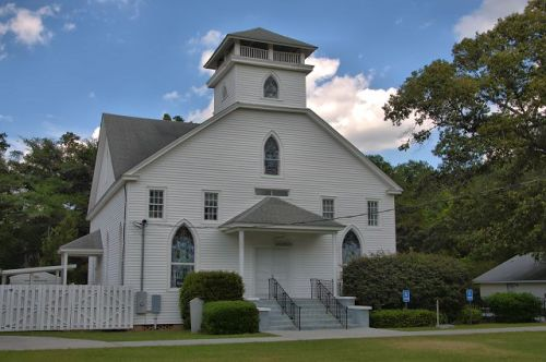 historic little ogeechee baptist church oliver ga photograph copyright brian brown vanishing south georgia usa 2016