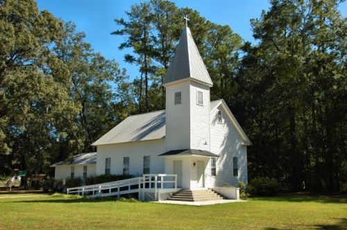 historic marlow united methodist church effingham county ga photograph copyright brian brown vanishing south georgia usa 2010