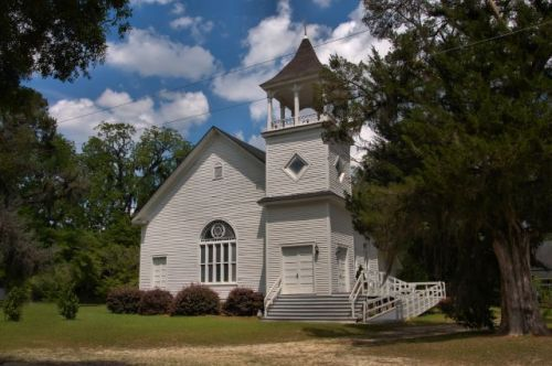 historic oliver methodist church photograph copyright brian brown vanishing south georgia usa 2016