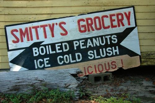 marlow ga smittys sign photograph copyright brian brown vanishing south georgia usa 2010