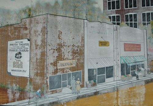 newington ga historic storefronts mural photograph copyright brian brown vanishing south georgia usa 2010