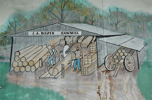 newington ga mural davis sawmill photograph copyright brian brown vanishing south georgia usa 2010