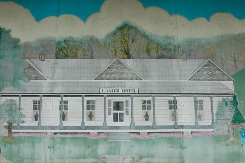 newington ga mural lanier hotel photograph copyright brian brown vanishing south georgia usa 2010
