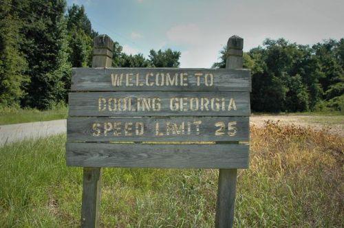 dooling ga sign dooly county ga photograph copyright brian brown vanishing south georgia usa 2010