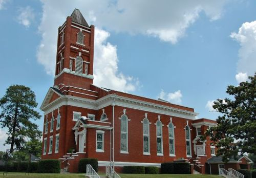historic ashburn united methodist church photograph copyright brian brown vanishing south georgia usa 2010