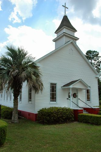 historic lake park christian church lowndes county ga photograph copyright brian brown vanishing south georgia usa 2010