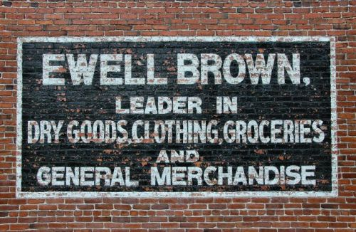 lake park ga ewell brown store mural photograph copyright brian brown vanishing south georgia usa 2010