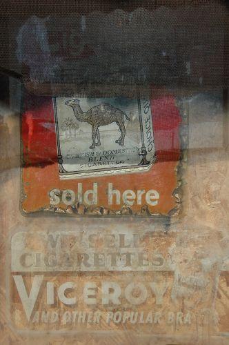 ocilla ga cigarette advertising photograph copyright brian brown vanishing south georgia usa 2010