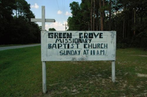 green grove missionary baptist church sign hopeful ga photograph copyright brian brown vanishing south georgia usa 2010