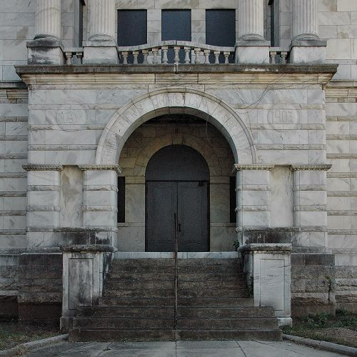 columbus ga ymca entrance photograph copyright brian brown vanishing south georgia usa 2010