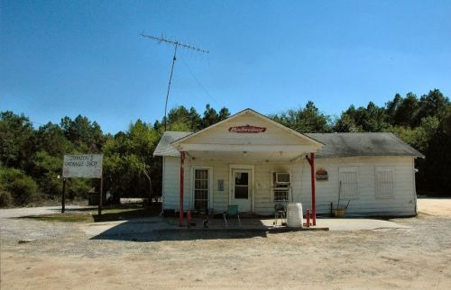 garfield ga johnsons package shop photograph copyright brian brown vanishing south georgia usa 2010