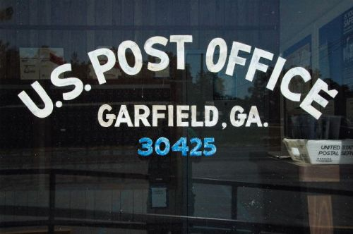 garfield ga post office sign photograph copyright brian brown vanishing south georgia usa 2010
