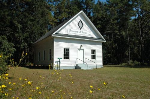 historic pearsons chapel methodist church tattnall county ga photograph copyright brian brown vanishing south georgia usa 2010