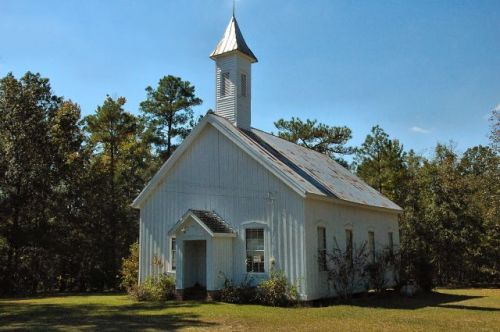 historic summertown methodist church photograph copyright brian brown vanishing south georgia usa 2010