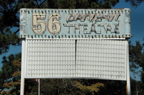 swainsboro ga 56 drive in theatre marquee photograph copyright brian brown vanishing south georgia usa 2010