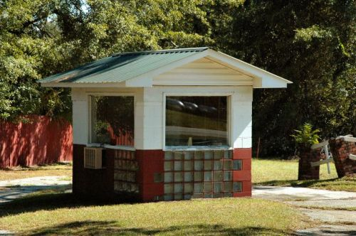 swainsboro ga 56 drive in ticket booth photograph copyright brian brown vanishing south georgia usa 2010