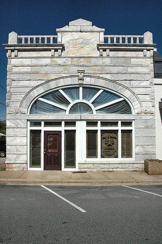Buena Vista GA Marion County Marble Front Bank Building Early