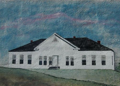 ellaville ga colored high school mural by linda adams photograph copyright brian brown vanishing south georgia usa 2010