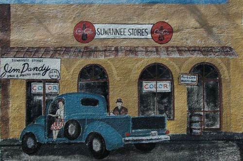 ellaville ga suwannee stores mural by linda adams photograph copyright brian brown vanishing south georgia usa 2010