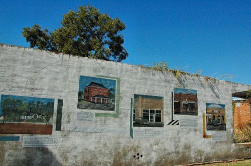 ellavilles history wall by linda adams schley county ga photograph copyright brian brown vanishing south georgia usa 2010