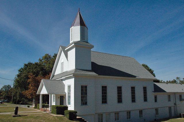 historic first baptist church cusseta ga photograph copyright brian brown vanishing south georgia usa 2010